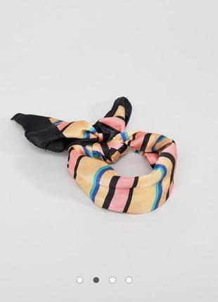 #розвантажуюсь платок в полоску повязка на голову аксессуары для волос bershka