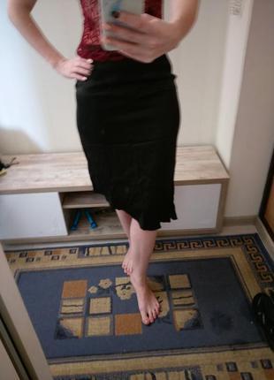 Юбка ассиметричная натуральный шелк