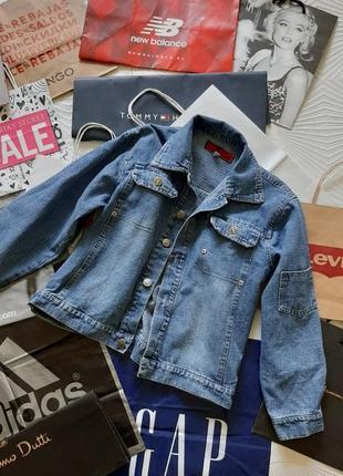 Стильный джинсовый пиджак на 11-12лет на мальчика