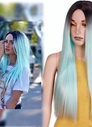 Парик, парик омбре, парик длинные волосы, парик цветные волосы