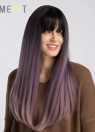 Парик, парик омбре, парик длинные волосы, парик фиолетовые волосы