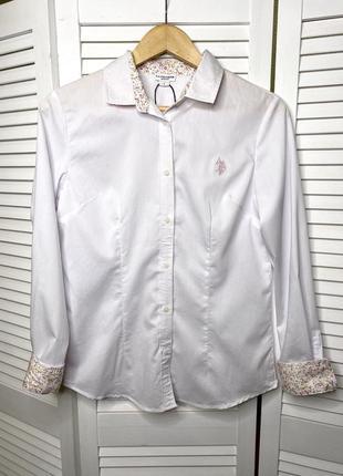 Белая рубашка polo assn