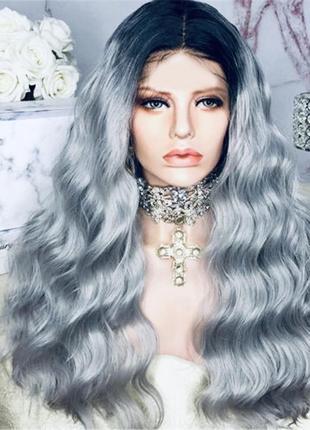 Парик, парик седые волосы, парик волнистые волосы