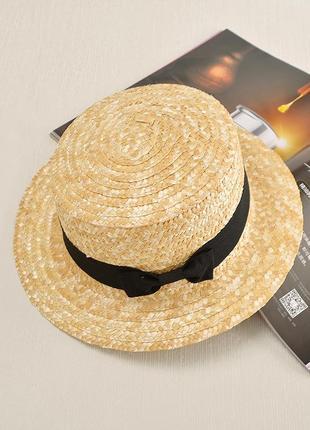 Шляпа канотье из 100% натуральной соломы