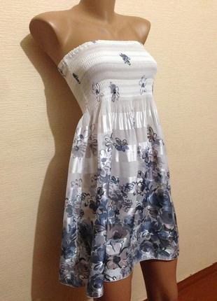 Невесомый сарафан платье бюстье