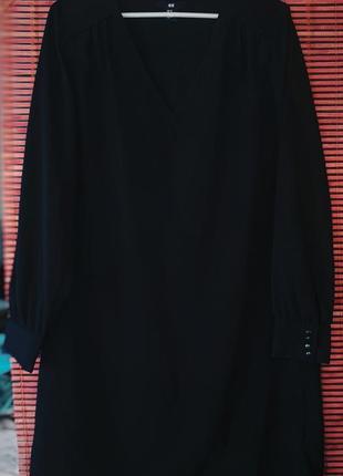 Чёрное свободное платье от h&m