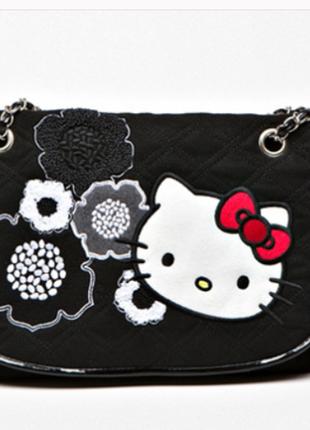 Сумка hello kitty sac черная 30 x 26 x 5 cm
