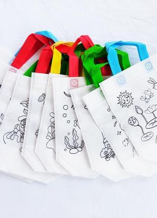 Набор холщевых сумок разукрашек для деток.