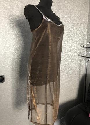 Блестящая сетка платье