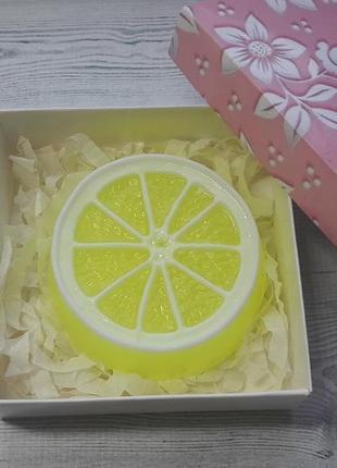Мыло ручной работы лимон 90 г.