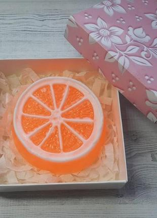Мыло ручной работы апельсин 90 г