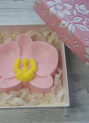 Мыло ручной работы орхидея