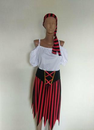 Карнавальное платье пиратка на взрослого l xl