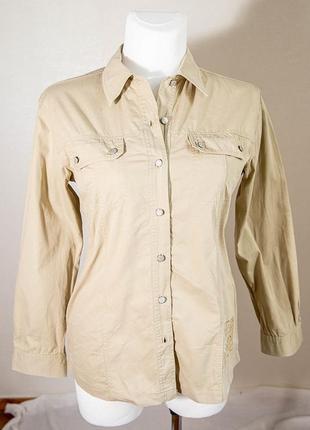 Бежевая рубашка  милитари etam