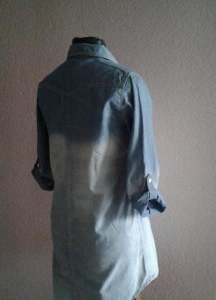 Легкая джинсовая платье рубашка