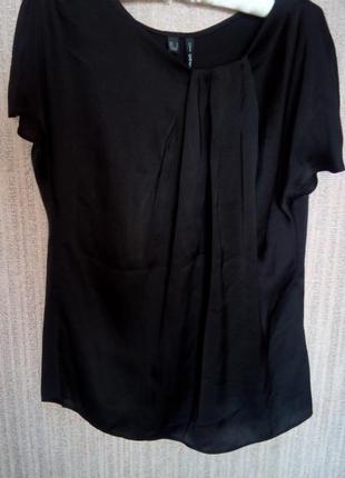 Блуза, кофта, футболка черная вечерняя mango, р-р м