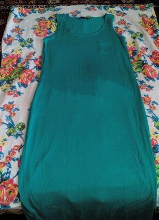 Платье в пол яркого цвета