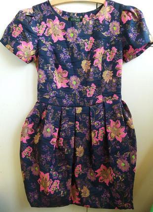 Шикарное платье вышивка цветы ralph lauren