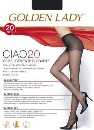 Шелковистые колготы golden ledi ciao20
