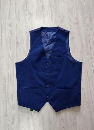 🎈нас 10 тысяч🎈happy sale🎁   синяя мужская жилетка с сатиновой спиной