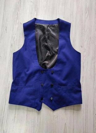 Sale! все по 100 грн!!🤩  сине черная жилетка с сатиновой спиной