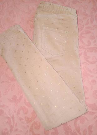 Стрейч вильветовые штанишки для девочки h&m