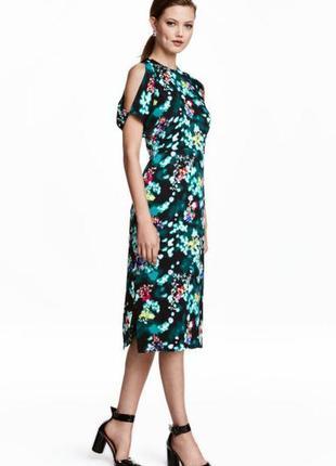 Креповое платье h&m