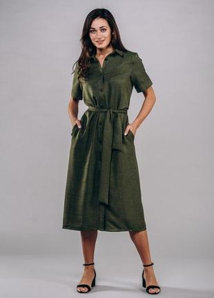 Елегантна льонова сукня