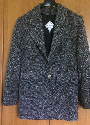 Твидовый пиджак paco paco италия размер l