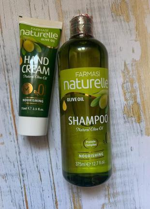 Набор оливка (шампунь+крем для рук)