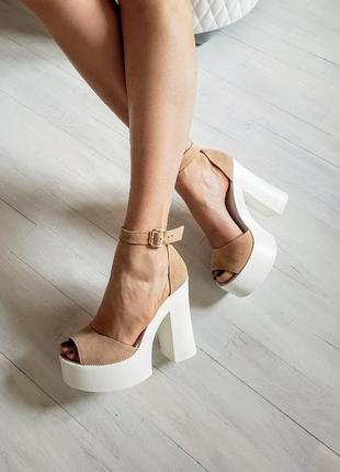 Босоножки платформа каблук