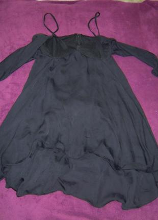 Элегантное вечернее коктейльное платье со шлейфом на рукавах от cafe ; винтаж, ретро, бохо