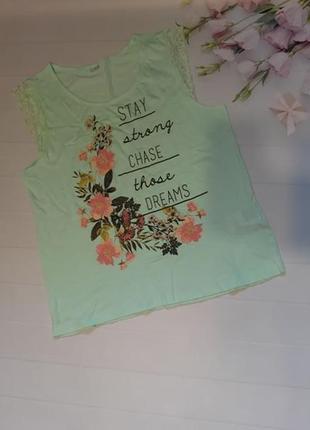 Очень красивая майка футболка мятного цвета