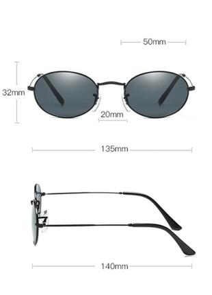 Очки окуляри солнцезащитные солнце круглые овальные черные новые8 фото