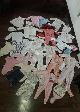 Продам мешком детскую одежду 0-3 мес девочке малышам все что нужно