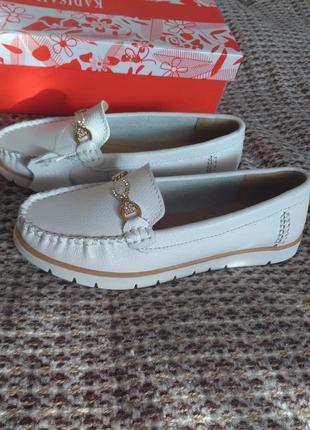 Кожаные макасины туфли