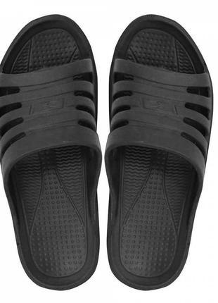 Пляжные шлепанцы crabbie черные. 38 размер