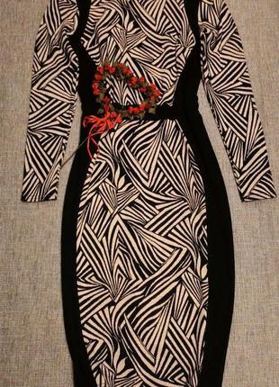 Платье с рукавом миди
