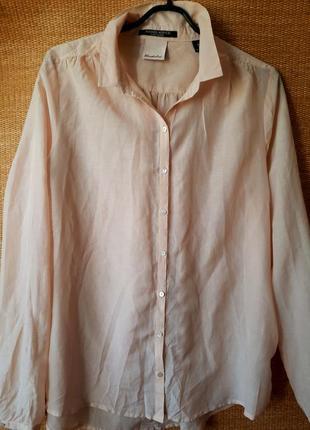 Шелк дорогой бренд блузка цвета пудры