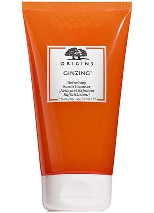 Скраб для лица origins ginzing refreshing scrub cleanser, 150 ml.