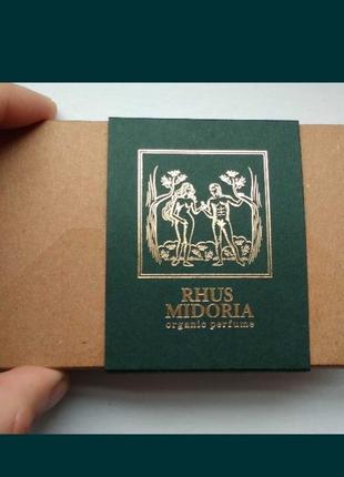 Набор пробников от украинского парфюмерного бренда rhus midoria