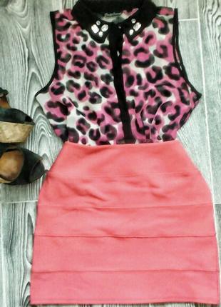Костюм.  бондажная юбка и рубашка