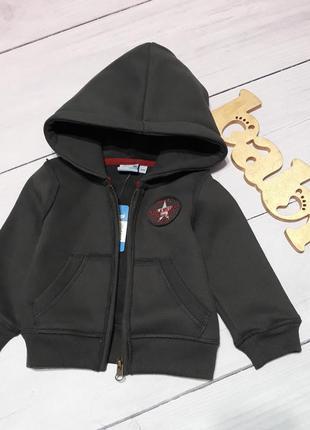 Куртка трикотажная,  кофта с капюшоном тёплая
