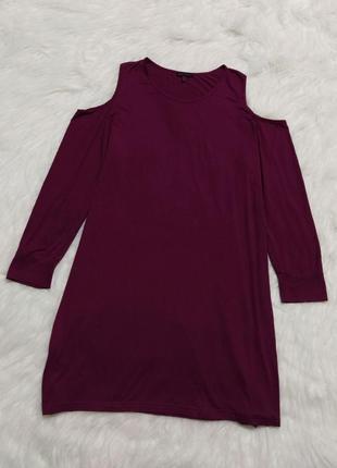 Натуральное свободное платье большого размера батал туника вискоза