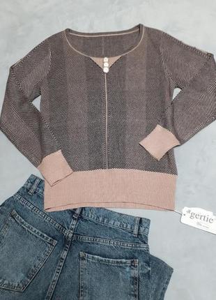 Стильный джемпер пуловер в полосочку