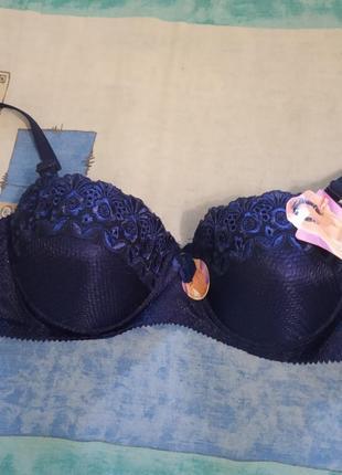 Женский лифчик бюстгальтер лиф. размер указан 34/75. цвет: синий, белый, черный