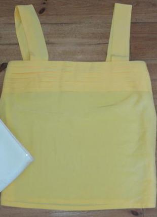 Стильный желтый шелковый топ