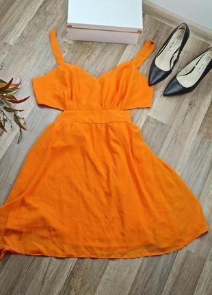 Крутое яркое шифоновое платье asos р. l/xl euro 44