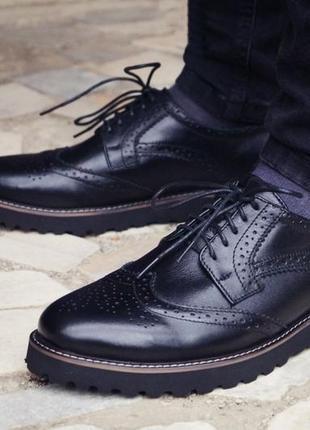 Мужcкие стильные броги, туфли onyx. кожа 100% размеры 40-45