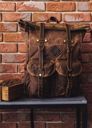 Эксклюзивный рюкзак роллтоп cherokee. для путешествий, фотоаппарата, ноутбука.